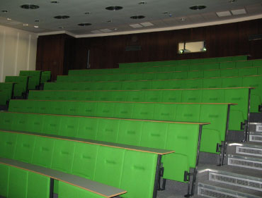 lecture room with chairs