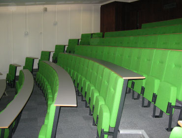 different view of lecture room with chairs
